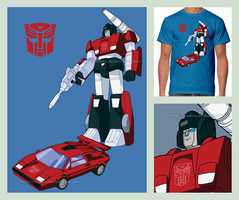 Sideswipe (T-shirt design) by nadav