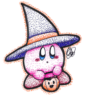 Inktober 13 - Witch Kirby by Chenanigans