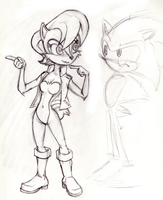 Princess Sally Acorn Sketch by Cody-Church
