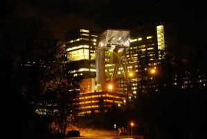 OHSU at Night by wraithslayer