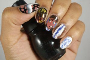 Legend Of Korra Nails by FatimattiDesigns