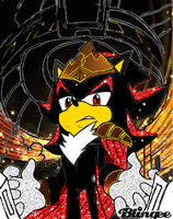 king shadow blingee by shadowthehedgehog109