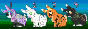 Bunny Adopts all sold by Hippie30199-Adopts