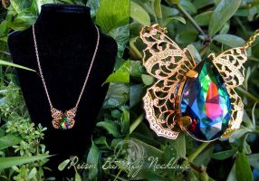 Prism Butterfly Necklace by Lillyxandra