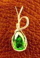 CZ Emerald Pendant by skezzcrom