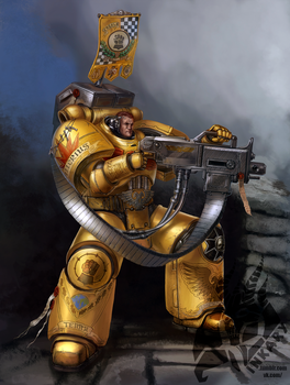 Imperial fists devastator sergeant by Inkary