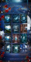 Night Garden Backgrounds by moonchild-ljilja