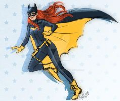 Patreon sketch request OCT- Batgirl by Roots-Love
