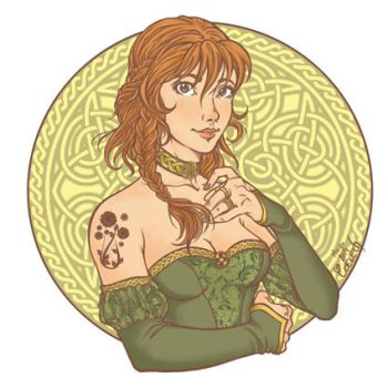 Celtic Girl for St Patrick's Day by Coeleth