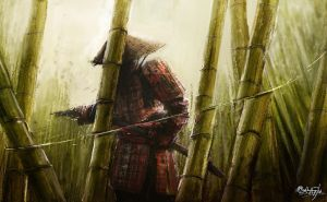 Bamboo. The mortal enemy of Samurais. by 0Galath0