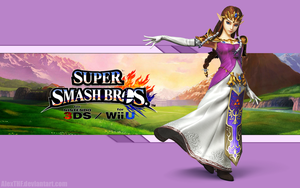 Zelda Wallpaper - Super Smash Bros. Wii U/3DS by AlexTHF