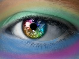 Rainbow EYE by Lily-loves-BRAVE