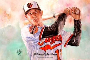 Manny Machado painting with the Baltimore Orioles by MichaelPattison