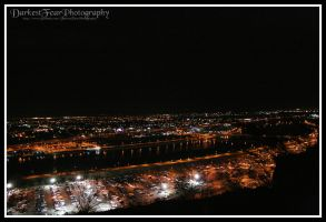 View from A-Mountain at night by DarkestFear