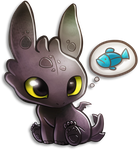 Tiny Toothless by TsaoShin