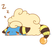 Sleepy Mareep by Steamed-RiceBalls