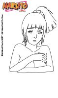 Hyuga Hinata - In the twilight Lineart by Darkartmind87