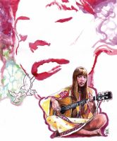 Joni Mitchell by smjblessing