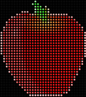 LED Apple by The-Dogfather