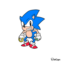 Sonic the Hedgehog by TehCapn