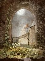 PREMIUM background - A Medieval-Place6 by Euselia