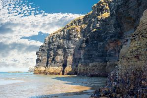 Cliffs On The Wild Atlantic Way At Low Tide by morrbyte