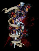 Switchblade snake by russellink