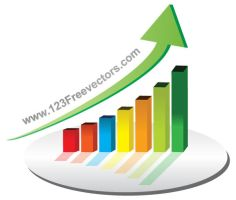 Business Graph Vector by 123freevectors