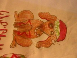 Merry Christmas(Closer look at the puppy xD) by RiseandFallOfTheClan