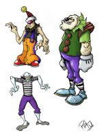 clowns by pituman