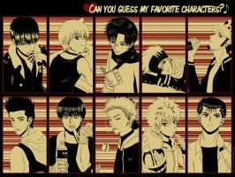 Fave Characters Meme by WendyLine