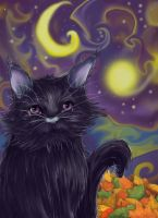 Psychodelic Cat by TeintesErrantes