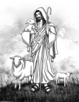 Jesus: I Am the Good Shepherd by OtakuEC