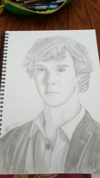 Sherlock Portrait Sketch by 2012MAMA