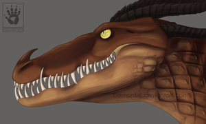 Monstrous Nightmare head study by DemonML