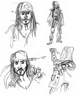 Sparrow character sketches by xAndyLG
