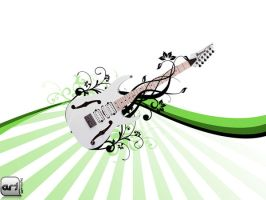Guitar with floral 2 by septian93