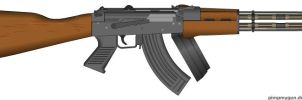 AK-47 LD-9T Dual Power by Lord-DracoDraconis