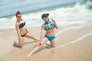 Viper and Chun Li by KOCosplay