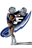 georgia force cheerleader by TheDrawingdepot