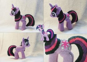 Twilight Sparkle Amigurumi other views by LeFay00