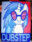 Vinyl Scratch Dubstep Canvas by BuckingBrony