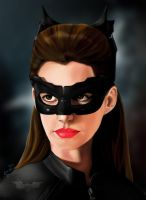 Anne Hathaway as Selina Kyle/Catwoman by IndigoRavenlily