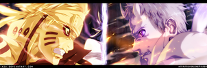 Naruto 651 - Naruto vs Obito (Collab) by SilverCore94
