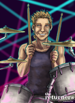 Sabin Rene Figaro as Drummer by selie