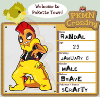 Pkmn Crossing: Randal by NerinokuKai