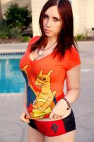 Charizard at the pool by Stephanie-van-Rijn