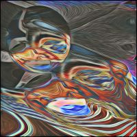 abstract selfie by Lajos-Toth