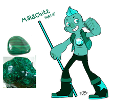 Gemsona 'malachite' by FauxBoy