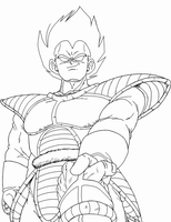 Vegeta Kaied up 2 lineart by BK-81